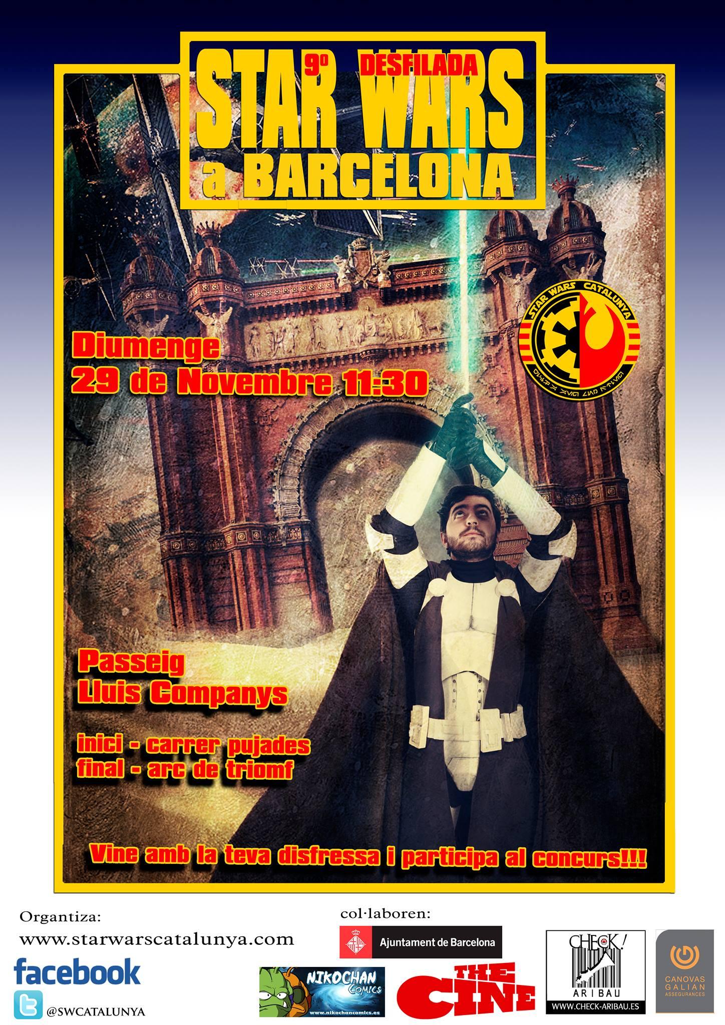 Desfile Star Wars Catalunya en Barcelona 2015_CartellDesfilada